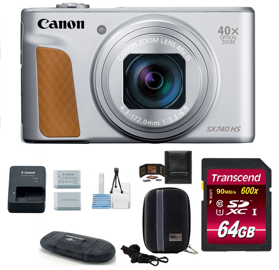 Canon PowerShot SX740 HS Digital Camera 64GB PRO Bundle