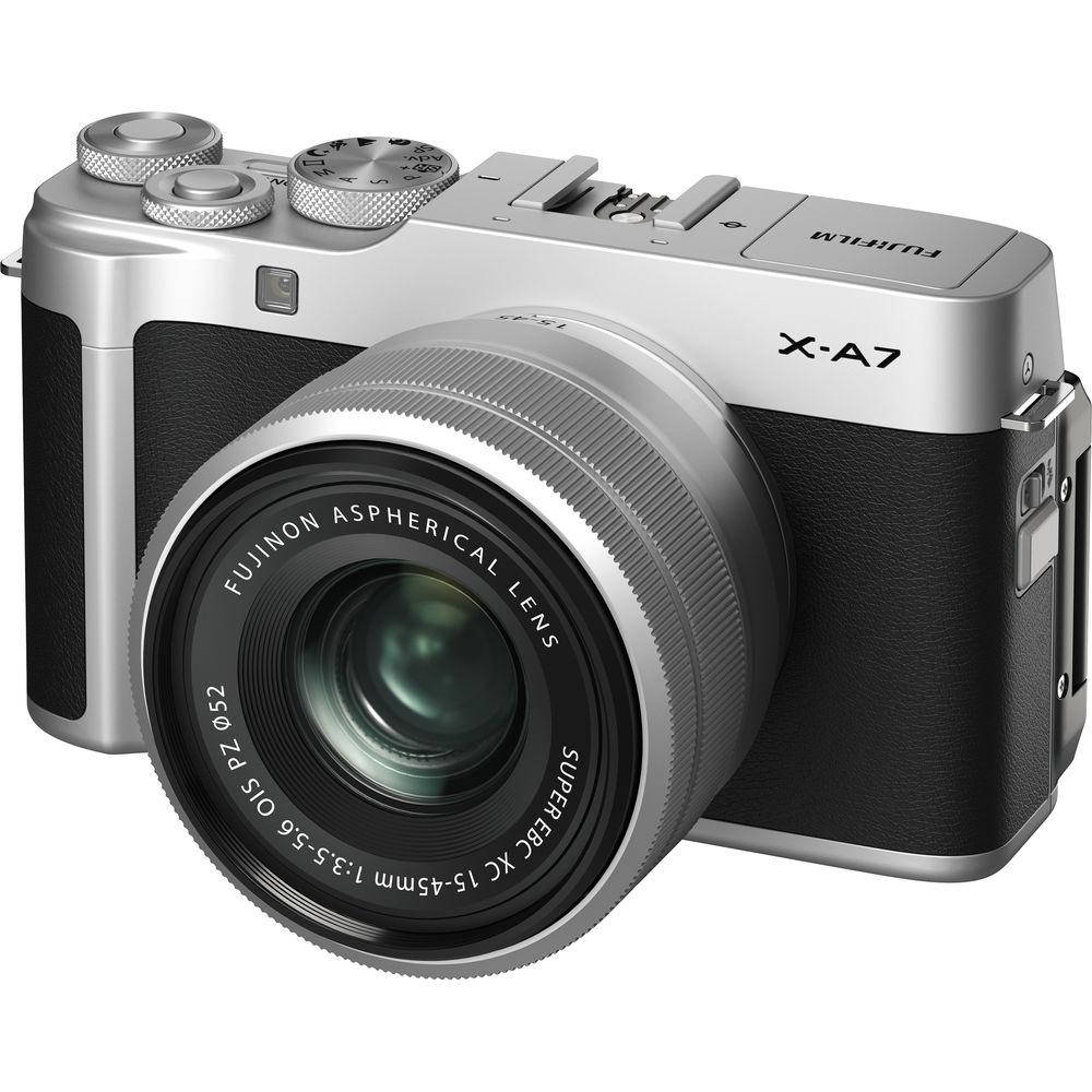 Fujifilm X-A7 Mirrorless Digital Camera with XC 15-45mm f/3.5-5.6 OIS PZ Lens