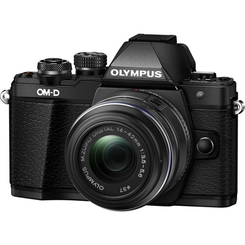 Olympus OM-D E-M10 Mark II Mirrorless Micro Four Thirds Digital Camera with  M.Zuiko Digital ED 14-42mm f/3.5-5.6 EZ Lens (Black)