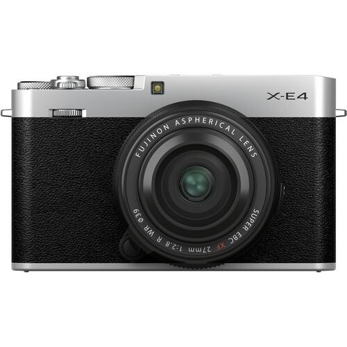 FUJIFILM X-E4 Mirrorless Digital Camera with XF 27mm f/2.8 R WR Lens - Silver
