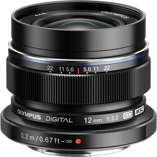 Olympus M.Zuiko Digital ED 12mm f/2.0 Lens (Black)