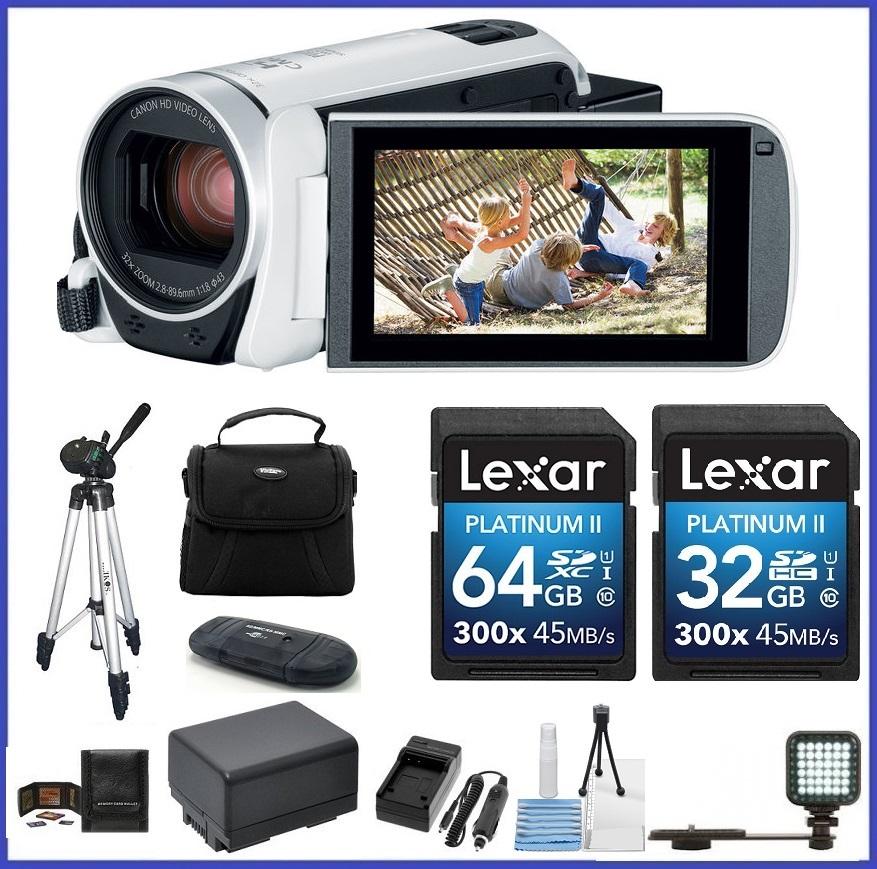 Canon VIXIA HF R800 HD Camcorder (White) 96GB PRO Bundle