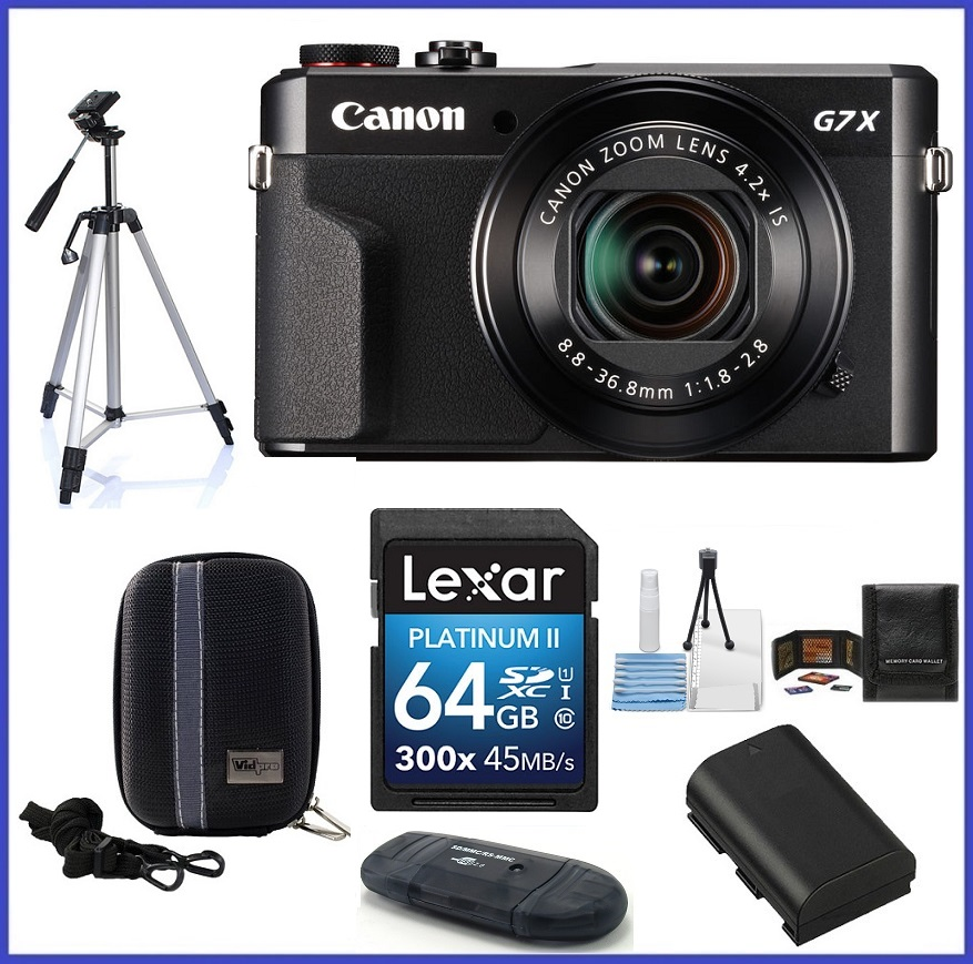 Canon PowerShot G7 X Mark II Digital Camera Ultimate Bundle