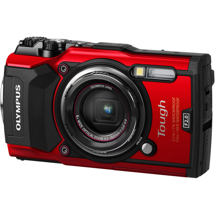 Olympus Tough TG-5 Waterproof Digital Camera (Red)