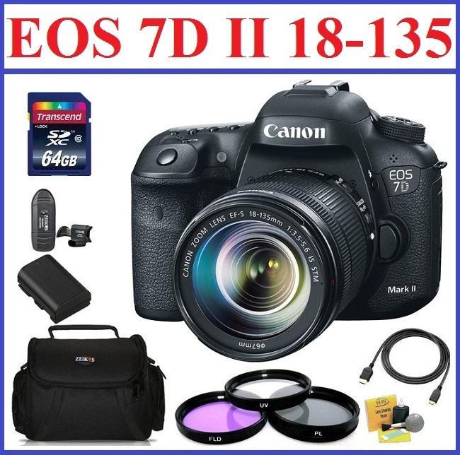 Canon EOS 7D Mark II DSLR Camera with 18-135mm Lens Bonus Kit 1