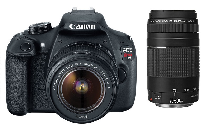 Canon EOS Rebel T5i with 18-55mm IS STM & Canon EF 75-300mm f/4-5.6 III Lenses