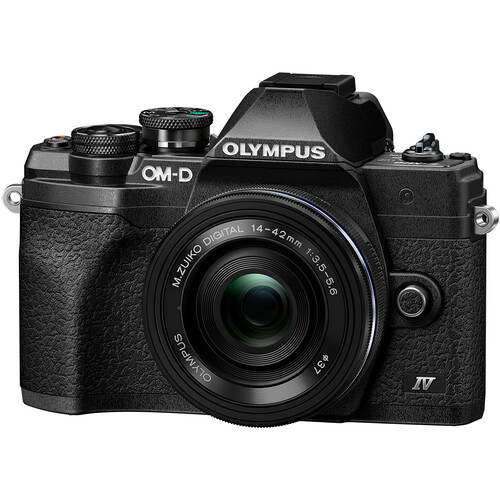 Olympus OM-D E-M10 Mark IV Mirrorless Digital Camera withM.Zuiko Digital ED 14-42mm f/3.5-5.6 EZ Lens