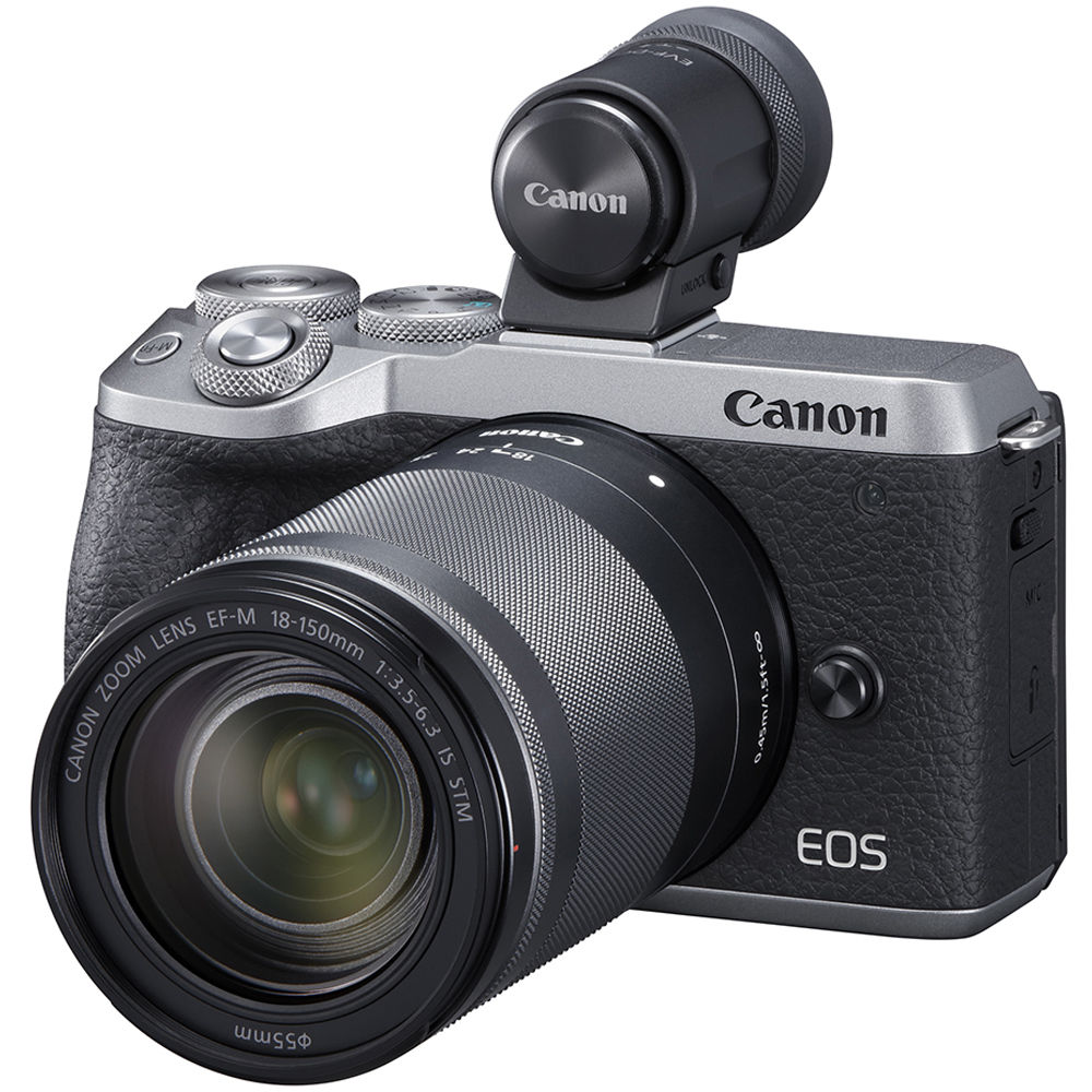 Canon EOS M6 Mark II Mirrorless Digital Camera with 18-150mm Lens and EVF-DC2 Viewfinder