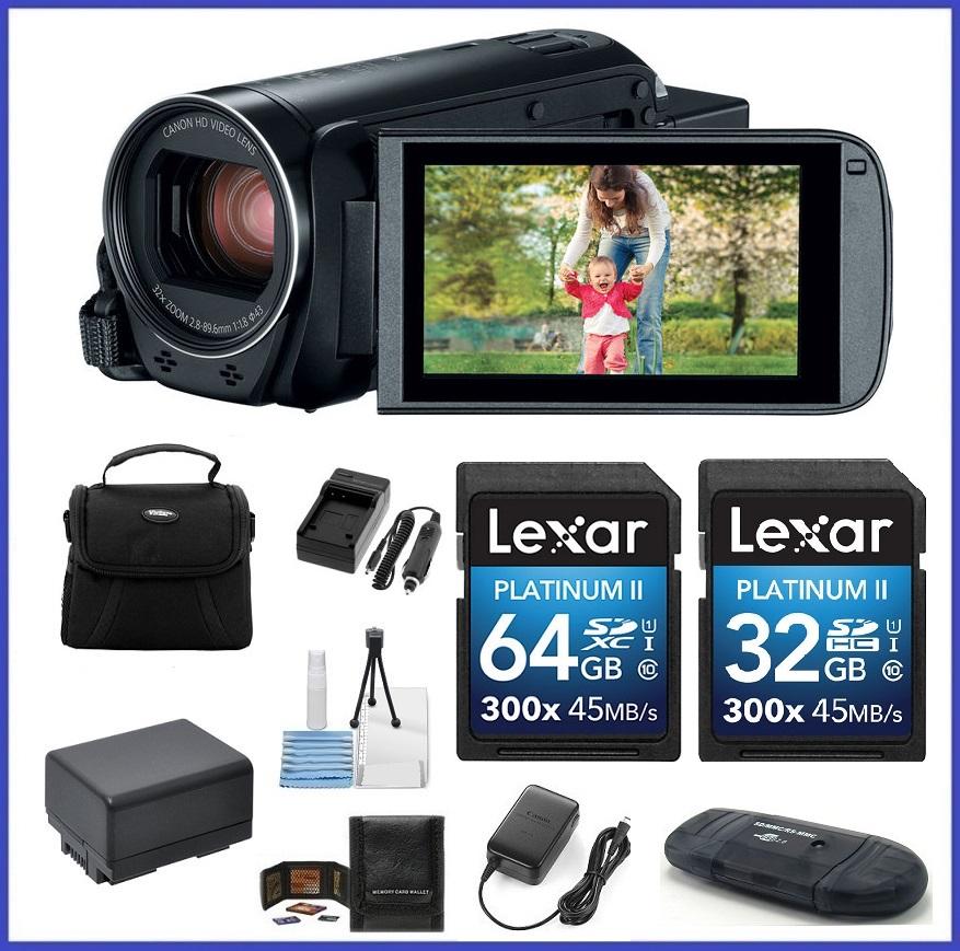 Canon VIXIA HF R82 HD Camcorder 96GB Travel Bundle
