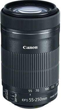Canon EF-S 55-250mm f/4-5.6 IS STM Lens with 58mm UV Protection Filter