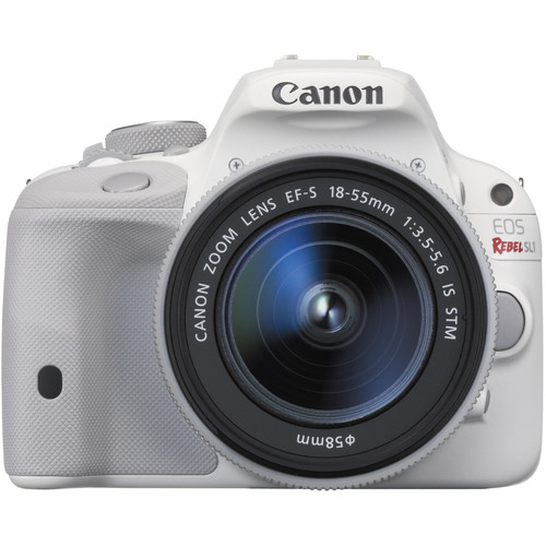 Canon EOS Rebel SL1 DSLR Camera with EF-S 18-55mm f/3.5-5.6 IS STM Lens (White)