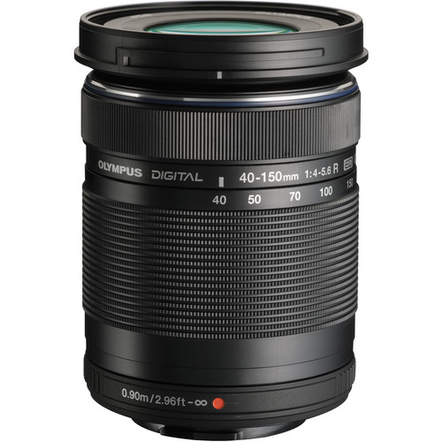 Olympus M.Zuiko Digital ED 40-150mm f/4.0-5.6 R Lens (Black)