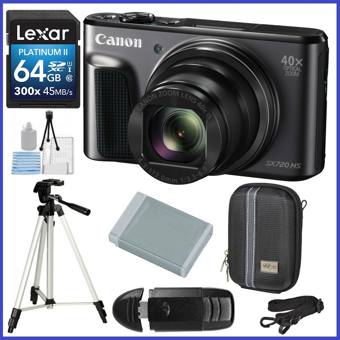 Canon PowerShot SX720 HS Digital Camera 64GB Travel Bundle