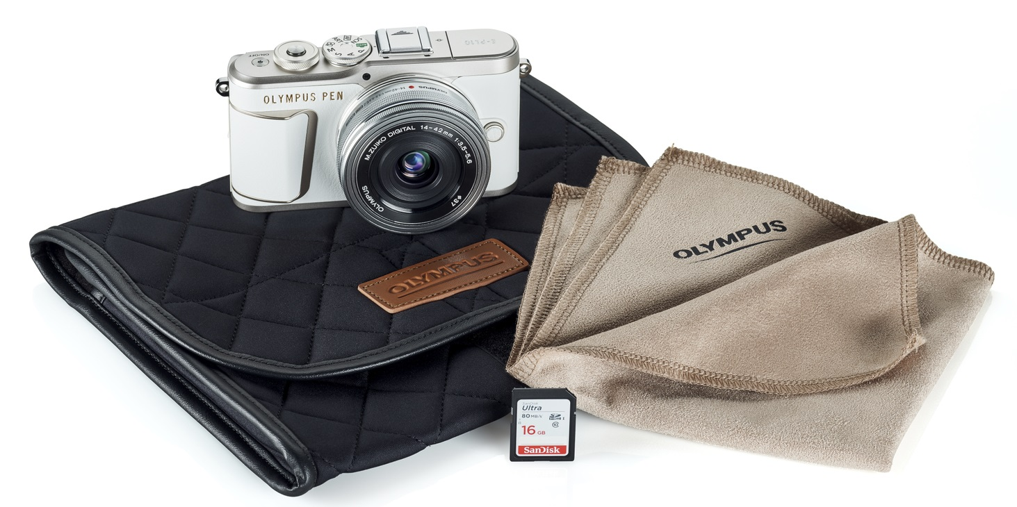 Olympus PEN E-PL10 Mirrorless Digital Camera with 14-42mm Lens (White)