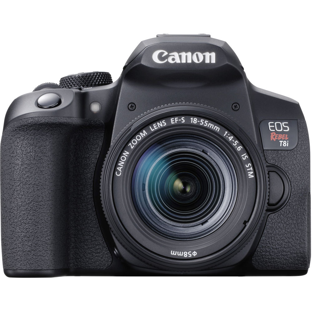 Canon EOS Rebel T8i DSLR Camera with EF-S 18-55mm f/4-5.6 IS STM Lens