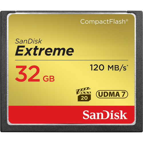 SanDisk 32GB Extreme CompactFlash Memory Card (120MB/s)