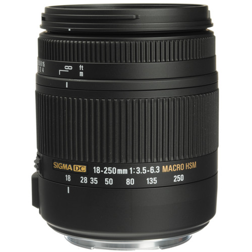 Sigma 18-250mm F3.5-6.3 DC Macro OS HSM for Canon Mount