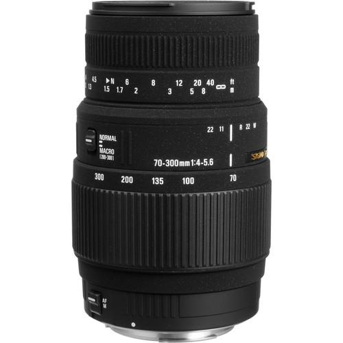 Sigma 70-300mm f/4-5.6 DG Autofocus Lens for Nikon DSLR Cameras